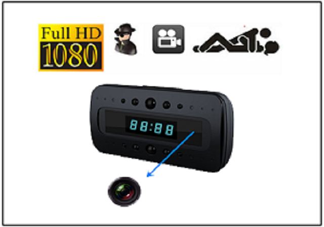 Spy Hidden Camera Clock Hd 1080p Remote Night Vision Motion Detection